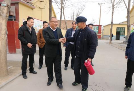 2018年春节前董事长到丁庄街道敬老院走访慰问
