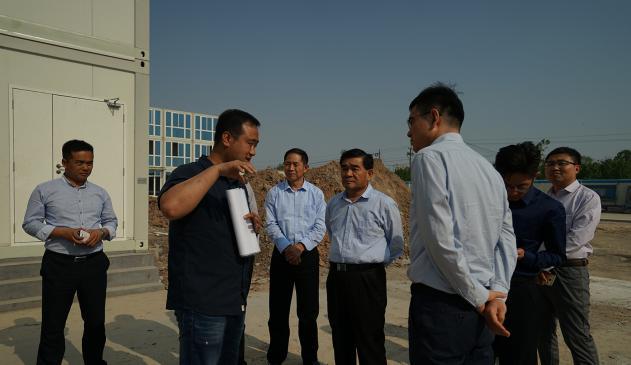 农高区管委会副主任杨同柱到集团公司视察指导
